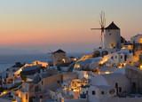 Fototapeta Sunset at Oia , Santorini