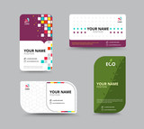 Contact card template. Business name card design set. vector ill