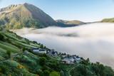 Niebla cubriendo el valle de Leitariegos, Asturias