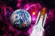 Space Shuttle Rocket Earth