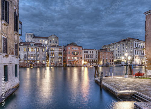Poster Chicago buildings at Grand Canal at evening, Venice (Venezia), Italy, Europe