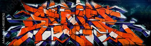 Fototapeta Graffiti - scritta hip hop