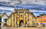 Fototapety The Bargate, a medieval gatehouse in Southampton, England