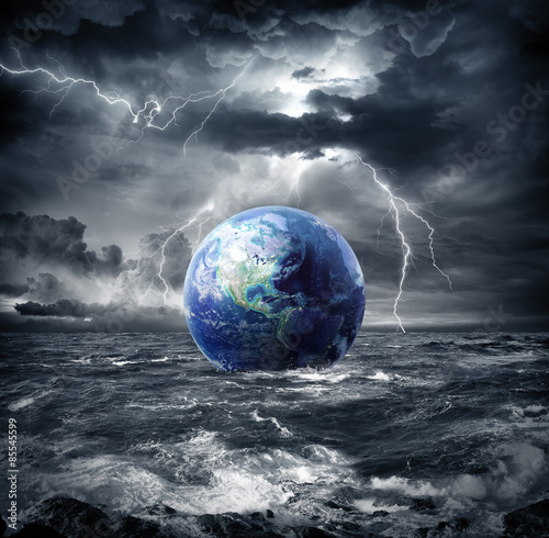 Fototapety, obrazy :  earth in the storm - apocalypse in Usa