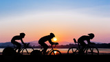 Fototapety Cycling on twilight time