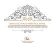 Detaily fotografie Luxury thai art template flourishes calligraphic elegant ornament lines.