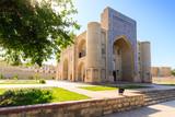 Entrance in Nadir Divan-Begi khanaka - Sufi monastery, Bukhara, Uzbekistan poster