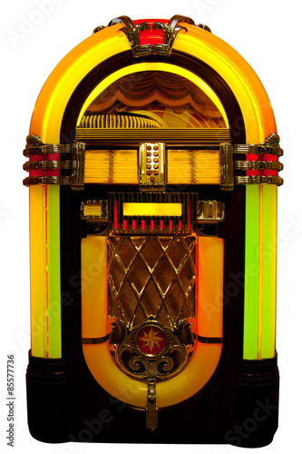 Zdjęcia Vintage jukebox isolated on white