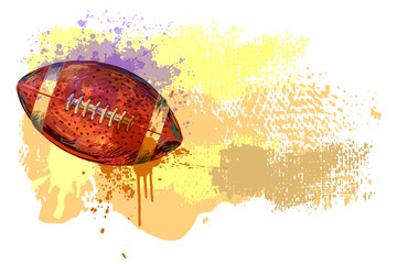 Football Banner. All elements are in separate layers and grouped.