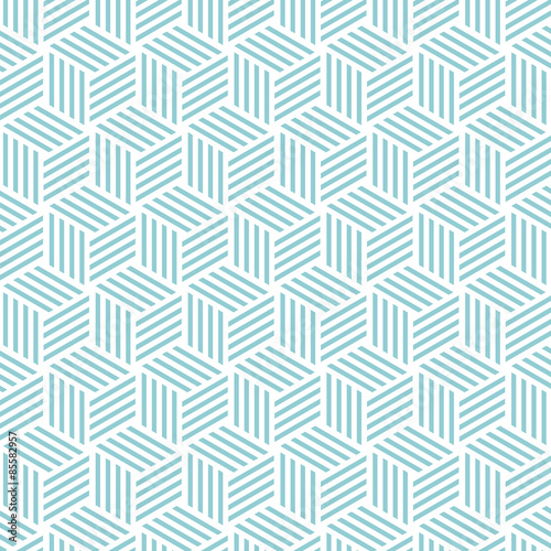 Tapeta ścienna na wymiar Cube light pattern background. Vector background bleu green