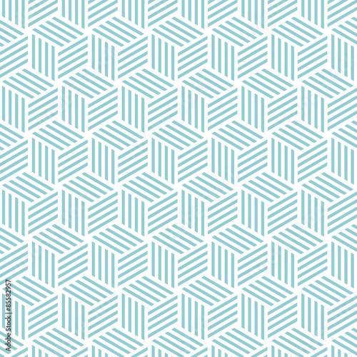 Cube light pattern background. Vector background bleu green - 85582957