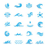 Water Design Elements. Can be used as icon, symbol and logo design.