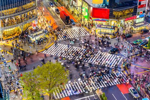 Poster Shibuya Crossing in Tokyo
