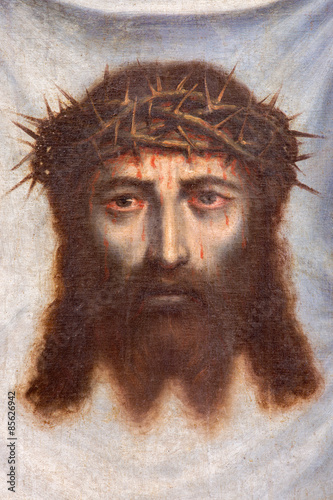 Plakat Granada - face of Jesus Christ paint in Monasterio de la Cartuja