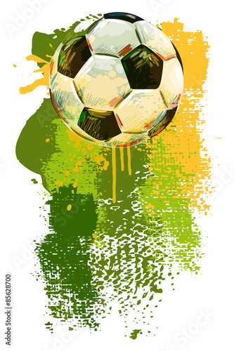 Obraz Soccer ball Banner. All elements are in separate layers and grouped.