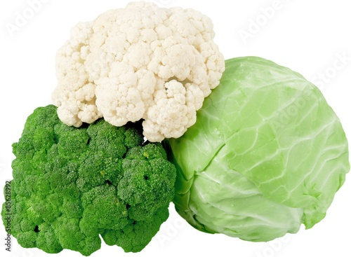 Poster Cauliflower, Cabbage, Flower.