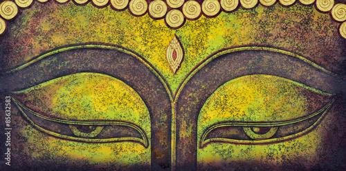 Fototapeta buddha face acrylic painting
