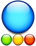 Fototapety Empty glossy balls, circle buttons. 4 colors. Editable vector.