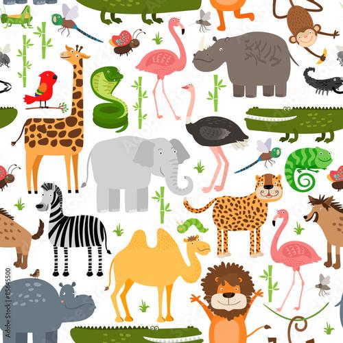 wzor-zwierzeta-dzungli
