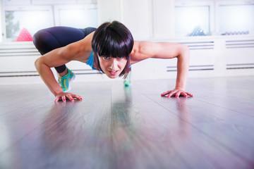 Energy mountain climbing on a gym