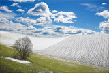 Slovakia - The field in spring country of Silicka Planina plateau.