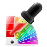 Color picker icon. Vector illustration