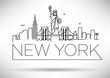 Linear New York City Skyline with Typographic Design