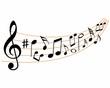 Постер, плакат: musical notes rhythm melody