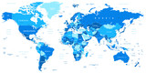 Highly detailed vector illustration of world map.Borders, countries and cities. - 85680303