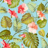 Fototapety Seamless tropical flower.