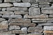 Gneiss stone wall