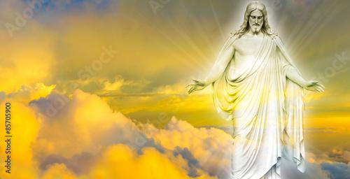 Fototapeta Jesus Christ in Heaven panoramic image