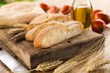 Fototapeta Fette di pane fresco italiano