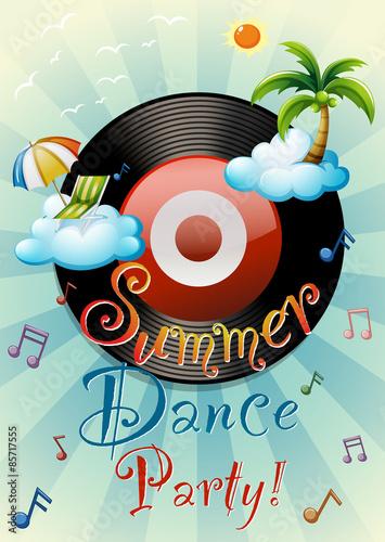 Fotobehang Muziek Poster