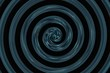 abstract spiral black and blue