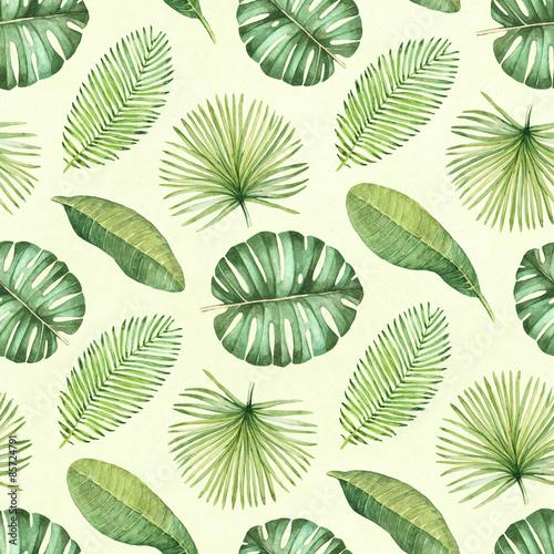 Stoffe zum Nähen Aquarell tropischen Musterdesign
