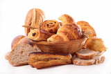 Fotoroleta assortement of bread and pastry