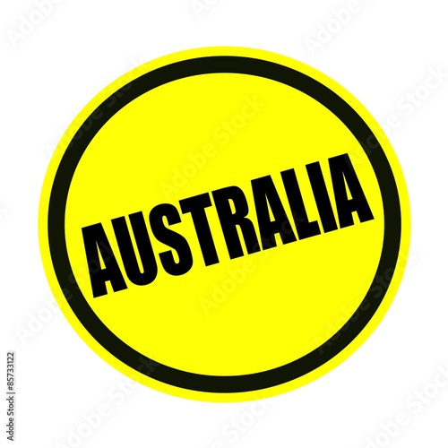 AUSTRALIA black stamp text on yellow Poster