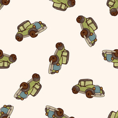 transportation car , cartoon seamless pattern background