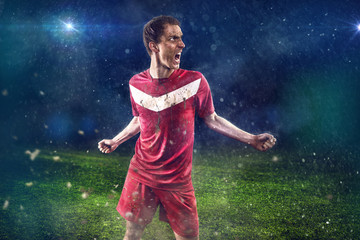 Screaming Soccer Player