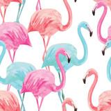 flamingo watercolor pattern