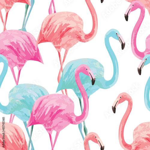 wzór akwarela flamingo