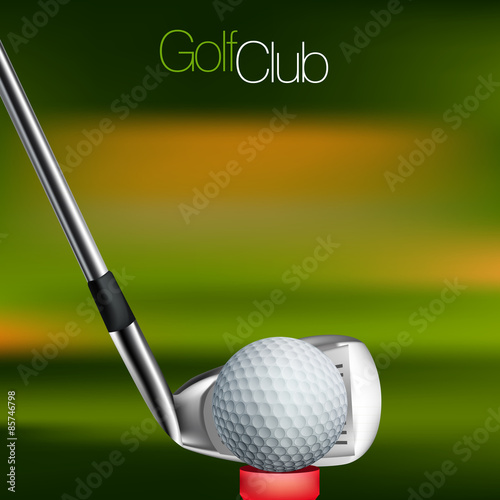 Fototapeta Golf Background All elements are in separate layers and grouped.