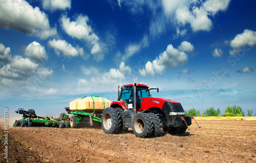 Aluminium Trekker tractor in a field