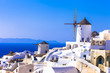 Traditional Greece - windmills of Santorini