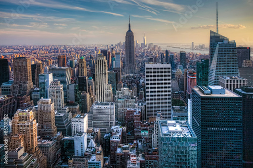 Manhattan Skyline at Twilight - 85781902