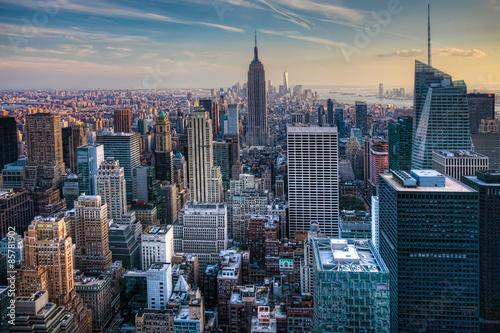 Poster Manhattan Skyline at Twilight
