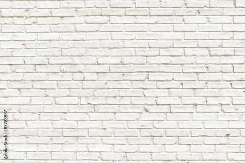Fototapeta White brick wall background