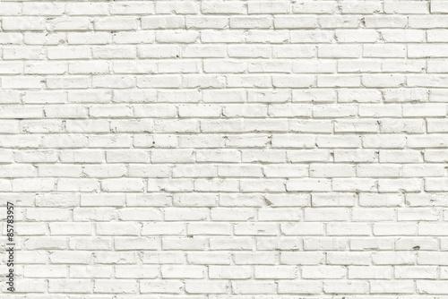Fototapeta White brick wall background