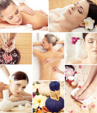 Fototapety Traditional oriental rejuvenation treatments. Health care, massage, wellness, spa and Thai medicine concept.